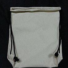 MIT帆布袋王-帆布(胚布)8安純棉 中後背束口袋(黑繩款)