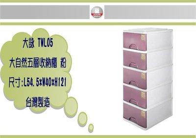(即急集) 全館999免運 HOUSE TWL05 大自然五層收納櫃(附輪) 二色 / 收納箱 / 收納櫃