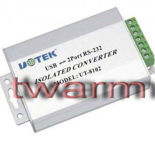 《德源科技》r)UT-8102,2口 RS232 USB2.0 光隔防雷轉換器2路
