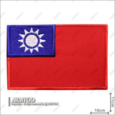 【ARMYGO】中華民國國旗(彩色版) (11x16公分)