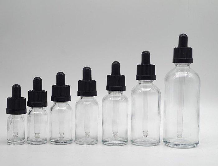 吖吖雜貨店*透明精油瓶5ml-100ml滴管瓶分裝玻璃瓶空瓶子防兒童蓋滴管瓶優惠推薦