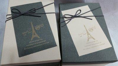 編號E09--長方鐵塔禮物盒//包裝盒//乾花盒