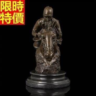 銅雕擺件 賽馬-歐式珍品收藏藝術雕塑工藝品66v28[獨家進口][巴黎精品]