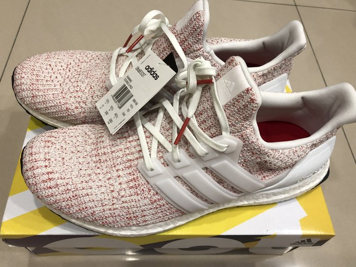 ADIDAS Ultra Boost 4.0 白橘紅 彩虹編織 MUTI 慢跑鞋 男鞋 BB6169 US11