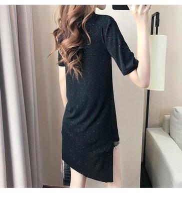 韓系性感洋裙XL-5XL中大碼22519/女裝胖mm加肥加大2018夏裝新款時尚流蘇連衣裙黑色