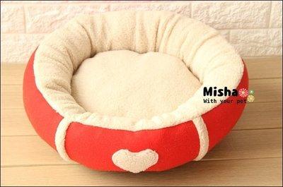 ✿ Misha ✿ 愛心羊羔絨圓圓寵物...