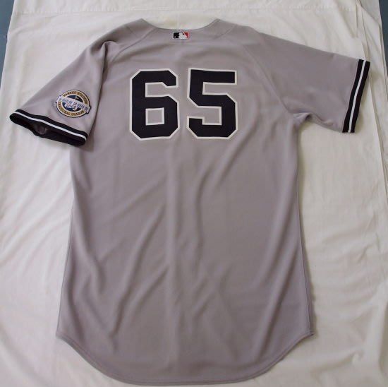 2009 MLB NY YANKEES #65 PHIL HUGHES GAME ISSUED ROAD JERSEY