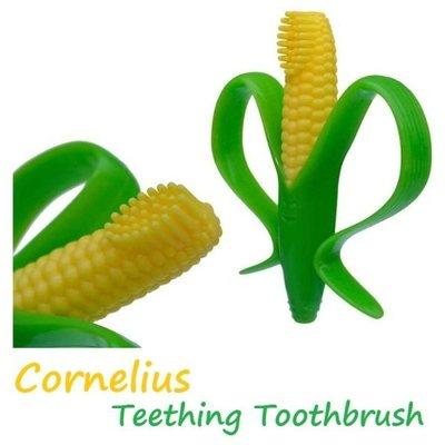 Baby Banana Brush 玉米造型 軟性學習牙刷 固齒器  磨牙器【BA0001】