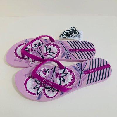 《現貨》Ipanema 女生 拖鞋 巴西尺寸33/34,35,36(夏日花園 人字夾腳平底拖鞋-紫色)