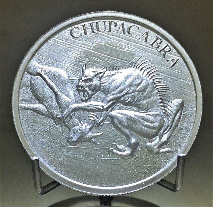 2 toz 吸血動物銀幣-Chupacabra 卓柏卡布拉