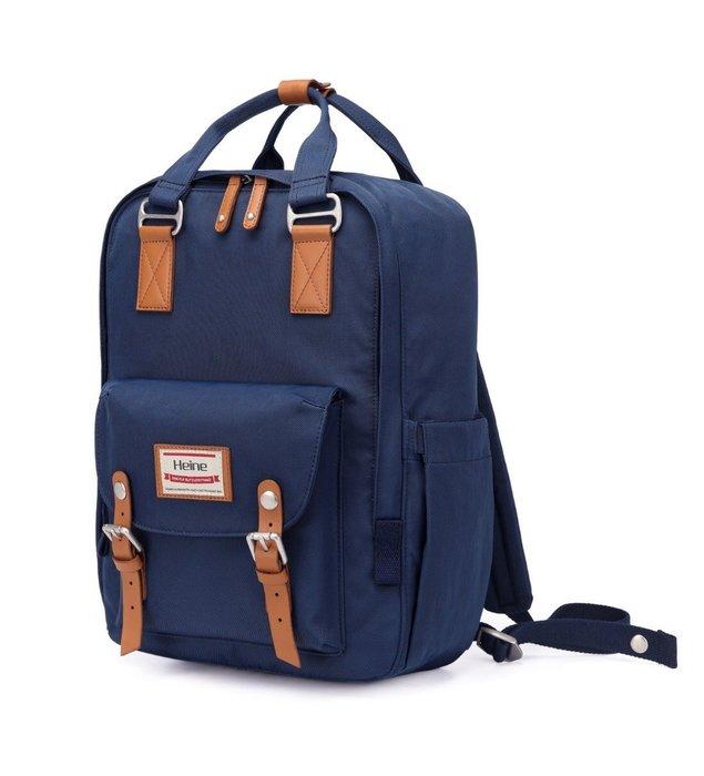 【12H急速出貨】Heine 時尚多功能媽媽包 媽咪包 待產包 後背包 雙肩包 外出包 旅行包 大容量- 藏藍色