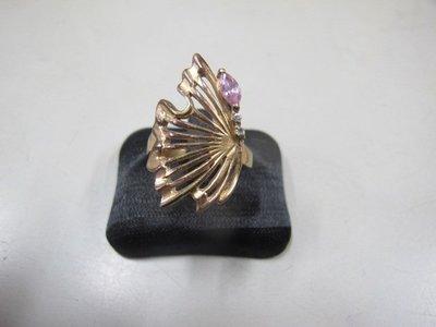 二手舖 NO.3743 水鑽 造型戒指 首飾飾品