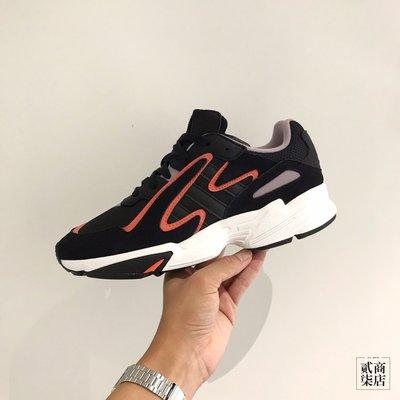 (貳柒商店) adidas Yung 96 Chasm 男款 黑色 黑紫 復古 老爹鞋 三葉草 麂皮 EE7234