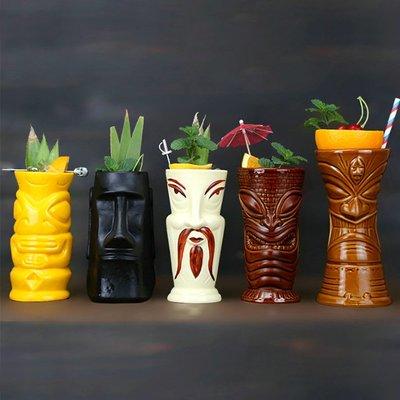 造型酒杯 提基雞尾酒杯夏威夷雞尾酒杯tiki陶瓷杯啤酒杯(10入)_☆找好物FINDGOODS☆