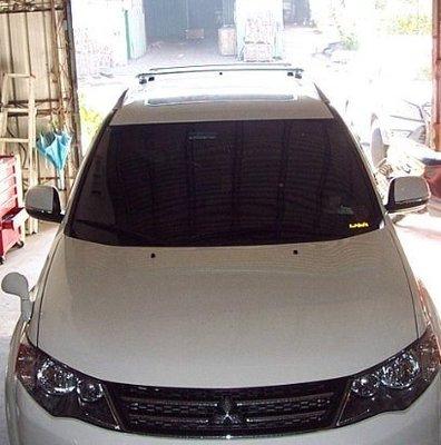 DE連長-Mitsubishi  Outlander 原廠型(美規) 行李架橫桿 置放架 可放置衝浪板  附ARTC認證