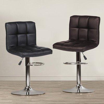 FDW【B06】現貨平日24H出貨*買同款2張免運!舒適格紋靠背吧檯椅/高腳椅/吧台椅/工作椅/餐椅