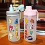 【新世界百貨】創意吸管玻璃杯女可愛ins風學生便攜帶蓋防漏磨砂刻度喝水杯夏季XSJBH57215