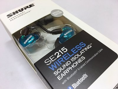 Shure SE215 Wireless Earphones with Bluetooth 入耳式隔音耳機 藍牙版 透明