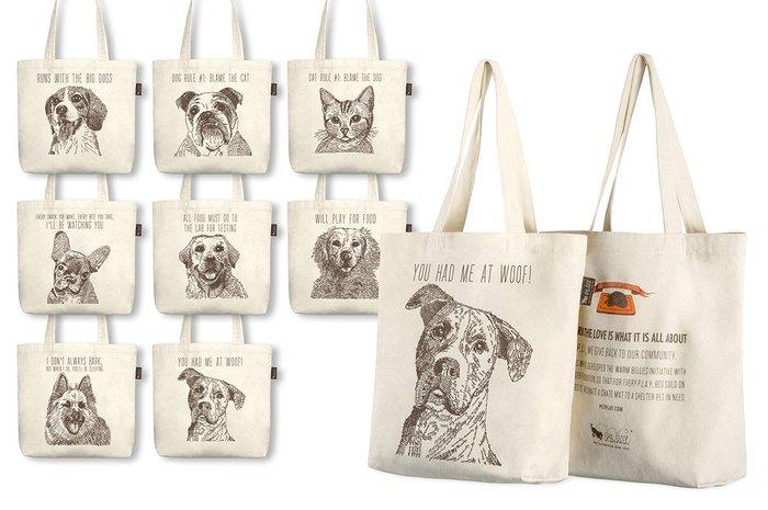 ☘小宅私物☘ 美國 P.L.A.Y. 環保購物袋 狗狗帆布包系列 八款可選 單肩帆布袋 寵物提袋 現貨附發票
