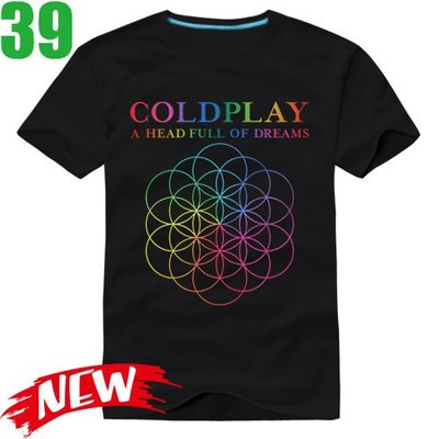 Coldplay【酷玩樂團】【A Head Full Of Dreams】短袖搖滾T恤(共6種顏色)新款上市!【賣場六】