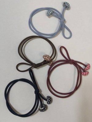 韓國新款髮圈簡約布藝蘑菇皮筋頭繩 10入高彈力雙線打結紮髮皮筋綁馬尾橡皮筋