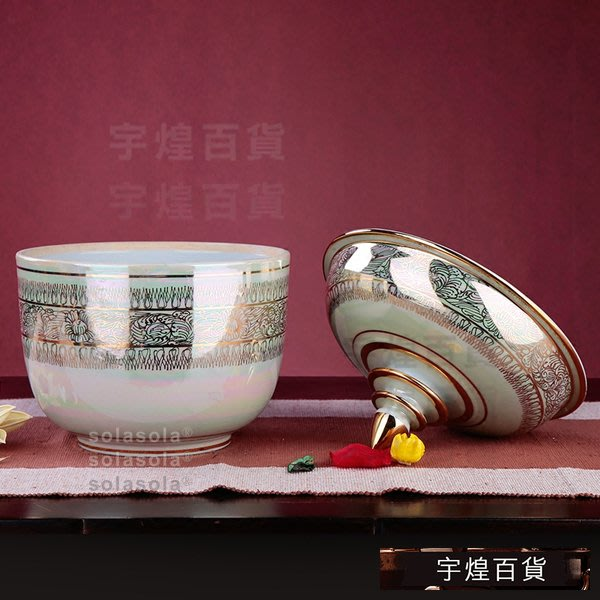 《宇煌》彩繪陶藝陶瓷罐子裝飾泰國家居陶瓷儲物罐東南亞_mGb5