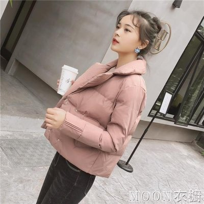 新款時尚棉衣女短款韓版西裝領外套女士小...