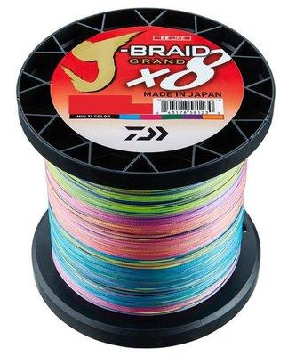 《屏東海豐》~新包裝~日本製CP值最高 DAIWA 8股J-BRAID X8 1500米 PE 五色 #3~6號