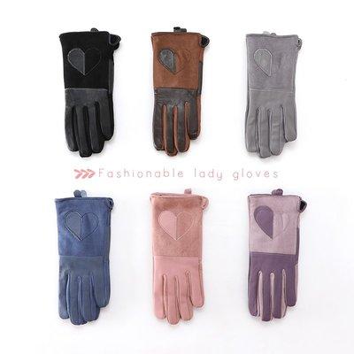 真皮手套女士冬季保暖韓版復古加絨加厚羊皮防風防寒戶外騎行觸屏#手套#創意#百搭#保暖