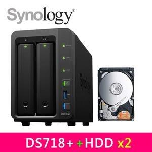 @電子街3C 特賣會@全新 群暉Synology DS718+ 網路儲存伺服器 WD40EFRX 紅標 4TB *2台