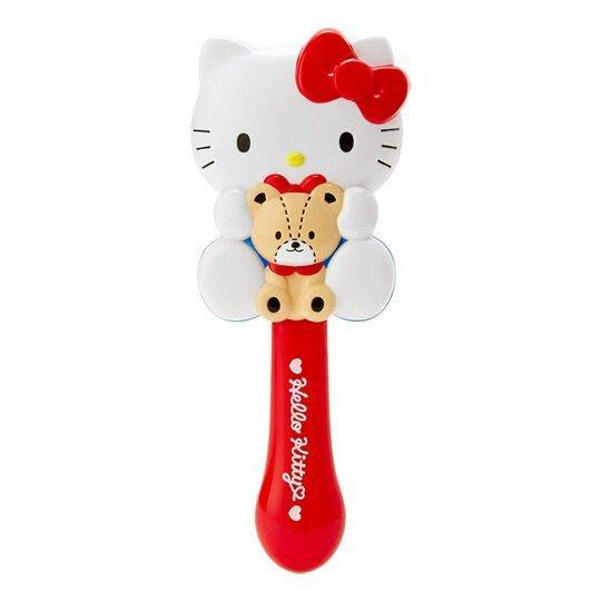 日本 三麗鷗 Hello Kitty抱小熊 造型髮梳子尺寸 18*7*4.6CM