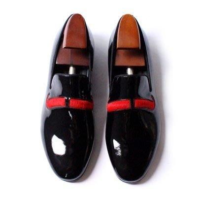 皮鞋 真皮休閒紅鬍子套腳鞋-優雅紳士風亮皮馬毛男鞋73kv26[獨家進口][米蘭精品]