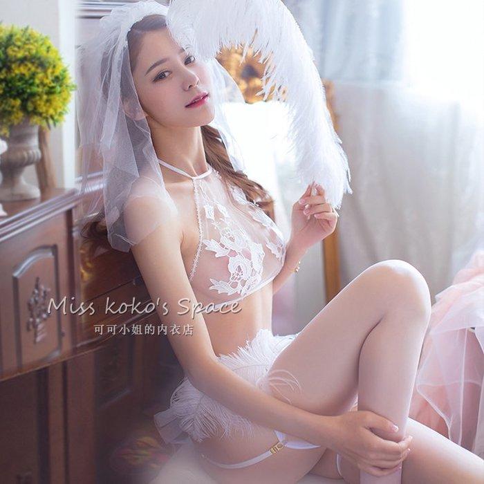 性感 透視 激情 火辣 誘惑性感透視新娘公主制服三點式清純情趣內衣吊襪帶絲襪另類激情套裝