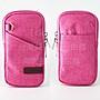 【GooMea】3免運ASUS華碩ZenFone 4 ZE554K 5.5吋 亞麻布拉鍊款 手機套 掛脖手拿掛頸 玫藍