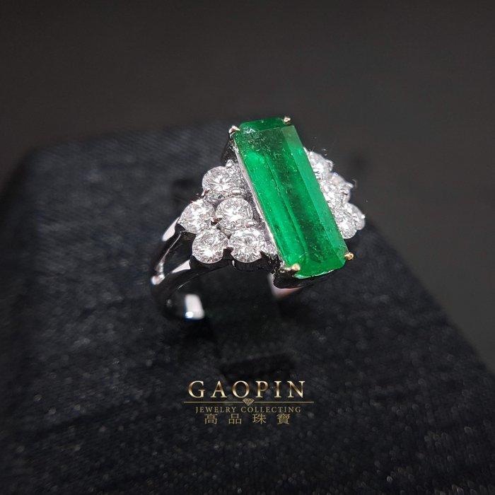【高品珠寶】2.14克拉哥倫比亞祖母綠戒指 女戒 18K #924