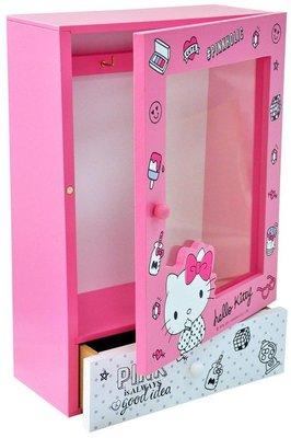 KITTY 透明掛式收納盒 飾品盒 儲物盒 收納櫃 正版授權 KT貓 沂軒精品 U0007