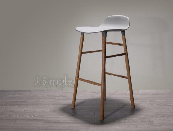【J.Simple 工業風】北歐設計簡約實木款  酒吧椅 辦公椅 吧台椅 高腳椅 美式鄉村風 餐椅 工業風 休閒椅 設計