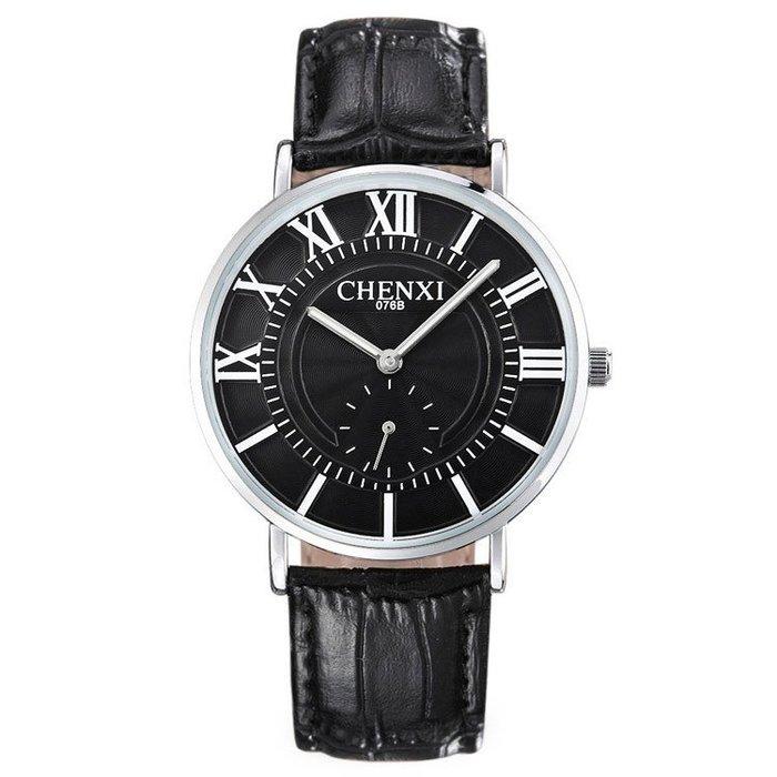 皮帶手錶超薄時尚情侶錶防水石英錶p92