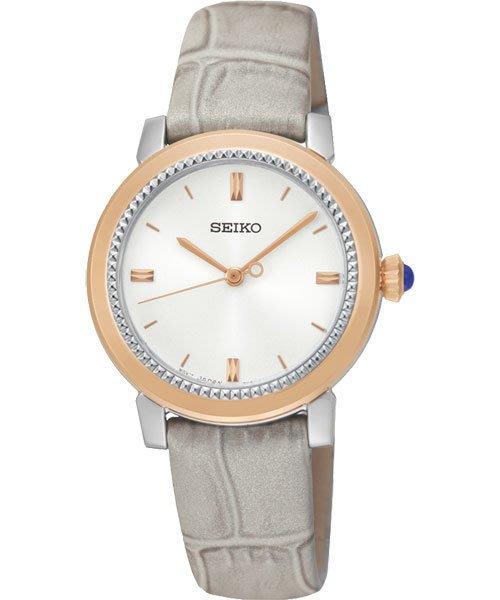 SEIKO CS 系列大三針石英女錶-銀x灰/30mm 7N01-0HS0P(SRZ452P1)