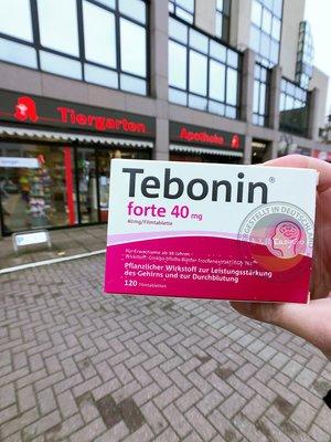 120粒【意志購🇩🇪德國代購】Tebonin 40mg EGb761 德國原裝