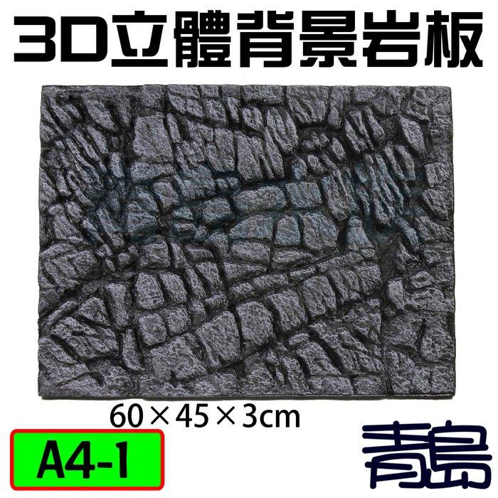 Y。。。青島水族。。。A4-1台灣精品-----3D立體背景岩板60×45×3cm 背景板==軟式-青龍岩石