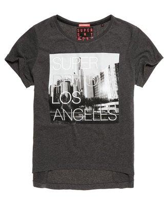 S.WET㊣現貨 極度乾燥 Superdry Boyfriend T-shirt 寬版 短袖 上衣 T恤 男友T 深炭灰