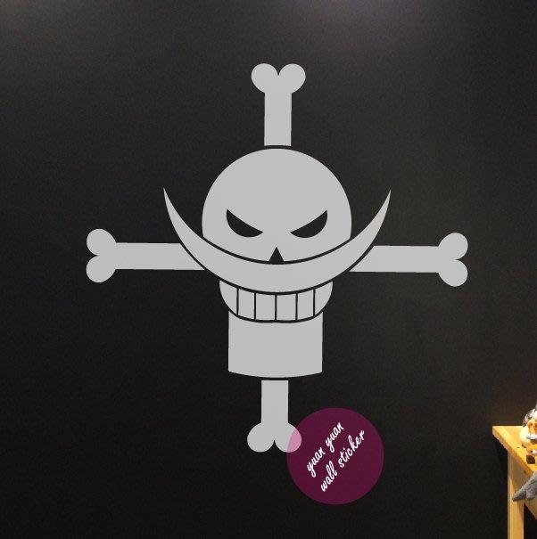 【源遠】動漫系列-海賊王-海上霸主白鬍子LOGO 【G-14】(M)壁貼 壁紙 玻璃貼紙 車身貼紙