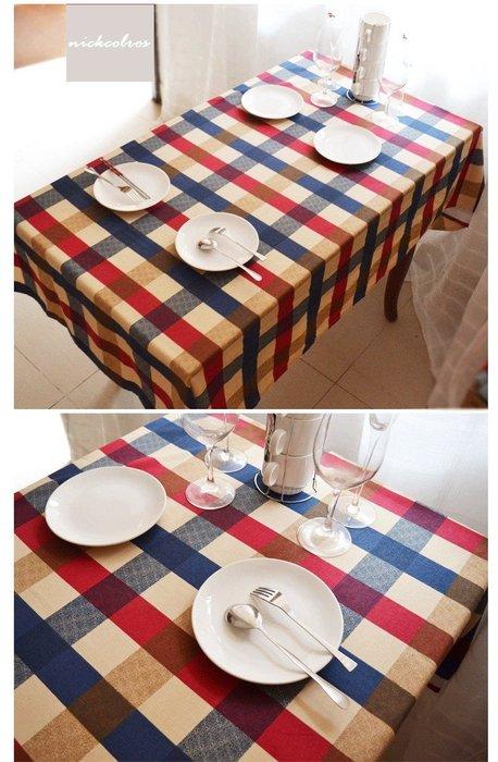 尼克卡樂斯~英倫格子桌巾—loft 餐桌巾 餐桌布餐桌墊 茶几墊 茶几桌布 鄉村風 英倫風 北歐風 地中海風格