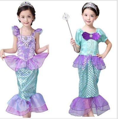 *蜜寶貝*萬聖節 中大女童-美人魚公主裙-連衣造型裙 尺寸110-150CM 約適3-12歲-0024