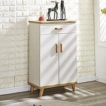 【DH】貨號N307-1名稱《翠史》2尺白木紋二門單抽鞋櫃(圖一)附活動隔板.附透氣孔.備有2.7尺.3.3尺可選.特價