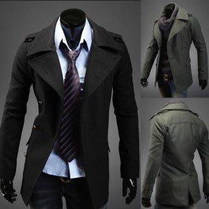 yes99buy加盟-上衣 2014新品男款秋冬外套 都市男士戶外休閒風衣 韓味男式毛呢大衣