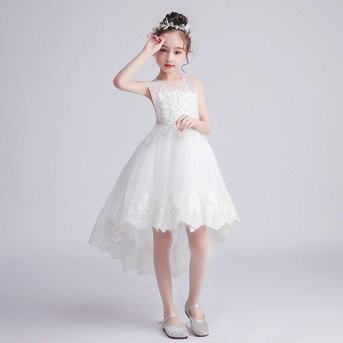 •*~ 辣媽咪衣飾小舖 ~*•❤童裝系列❤K970448韓版大童夏款甜美清新時尚蓬蓬蕾絲亮片可愛公主禮服公主洋裝