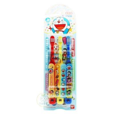 日本BANDAI 哆啦A夢 兒童牙刷3入-日本製