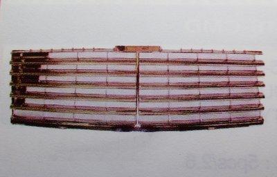 泰山美研社19010207 BENZ 賓士 W210 95-99年 11線 無框 水箱罩 水箱護罩
